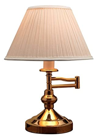 Holmes Polished Brass Swing Arm Table Lamp