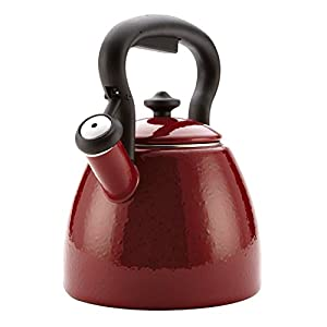 Paula Deen Signature Teakettles 2-Quart Curvy Kettle Red Speckle