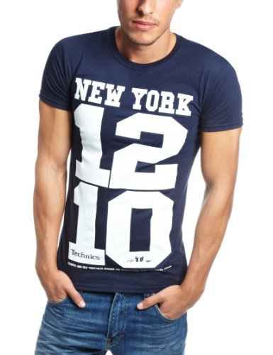 Technics New York 1210 Men's T-Shirt Navy/White Small