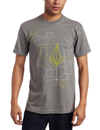 Volcom - Galvanized S/S Tee Men S/S Basic T-Shirt, Size: Small, Color: Grey Vintage Heather