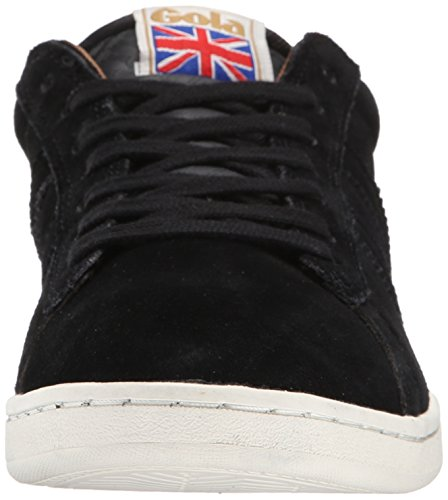 Gola Men's Equipe Suede Fashion Sneaker, Black, 11 M US