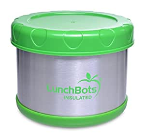 buy lunchbots thermal 16 ounce stainless steel insulated food container wide mouth soup jar. Black Bedroom Furniture Sets. Home Design Ideas