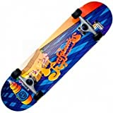 Kryptonics Rebel Series Mustard Graphics Skateboard (31-Inch)