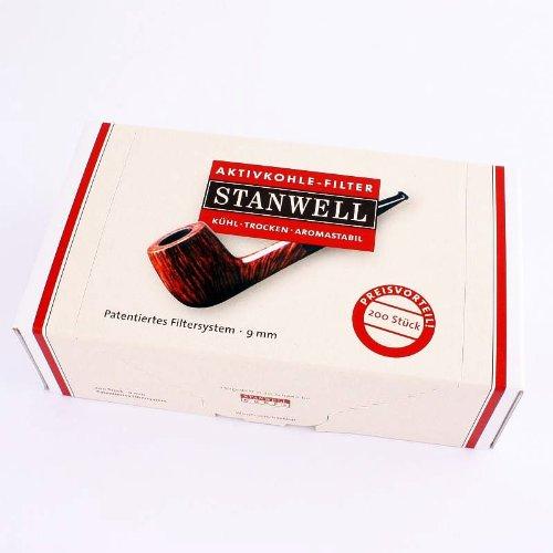 Stanwell - Filtro ai carboni attivi per pipa, 9 mm, 200 pezzi
