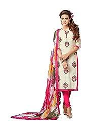 KANHA TRADING Women's Chanderi Cotton Dress Material(KANHA TRADING 716_Multicolor _Freesize)