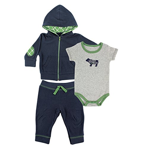 Yoga Sprout Baby Pant, Bodysuit, and Hoodie Set, Navy Bear, 12-18 Months (Baby Clothes 12 To 18 Months compare prices)
