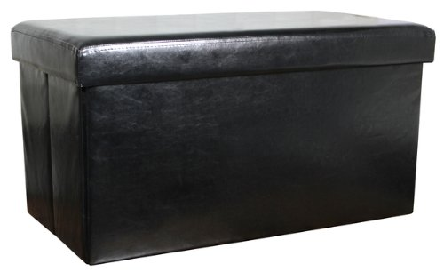 faux-leather-folding-storage-box-stool-ottoman-pouffe-70x38x38