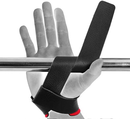 Rdx Leather Weight Lifting Grips Training Gym Straps: RDX Padded Cow Hide Leather Straps Weight Lifting Training