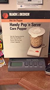 Black & Decker Hot Air Popper Handy Pop N Serve Corn Popper