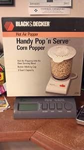 Black & Decker Hot Air Popper Handy Pop N Serve Corn Popper