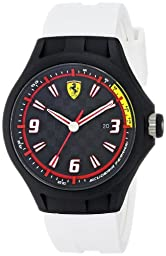 Ferrari Men\'s 0830004 Analog Display Japanese Quartz White Watch