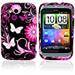 V6 JOIE Series Flora Gel Case For HTC Wildfire S + Screen Protector