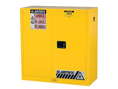 Sure-Grip-EX-Flammable-Safety-Cabinet-Dims-44H-Cap-30-gal-1-shelf-2-mc-doors