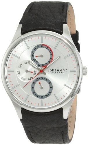 Johan Eric JE4000-04-001 - Reloj analógico de cuarzo para hombre con correa de piel, color negro