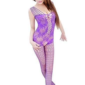 Amazon.com: YMXING Women's Industrial Net Crotchless Bodystocking