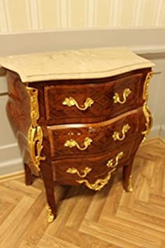 antique chest of drawers superb veneer with marble