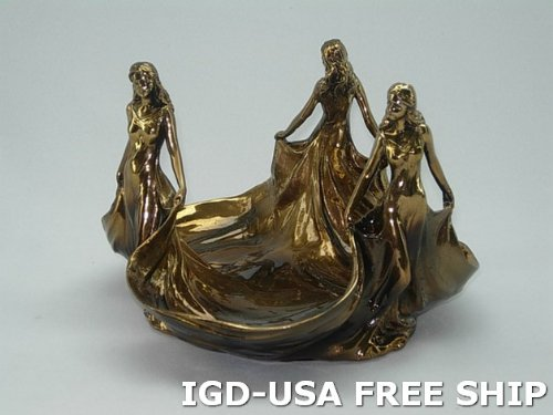 High Quality Antique Decorative Dish Free Ship.