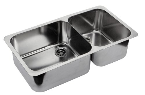 Ambassador Marine Double Rectangle Stainless Steel Ultra Mirror Polished Finish Sink, 23 1/4-Inch Long X 13 1/4-Inch Wide X 10 1/8-Inch Deep