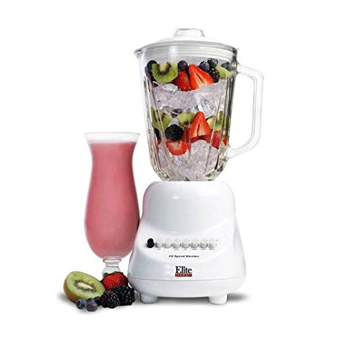 Elite Gourmet EBL-2000GW Maxi-Matic 10-speed Blender with 48-Ounce Glass Jar, 450-Watt, White (Elite Maximatic Blender compare prices)