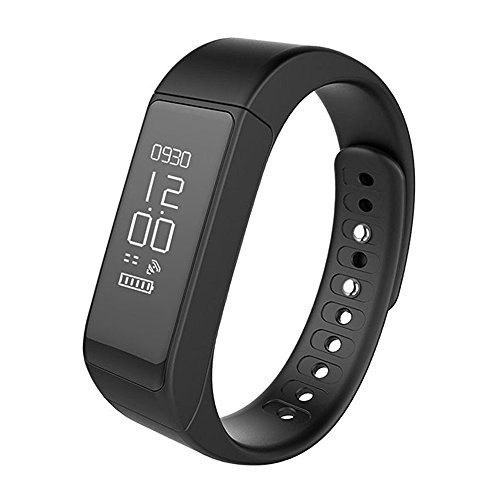 Fitness Tracker,Semaco Wireless Smart Bracelet with OLED Display Bluetooth Pedometer Sleep Monitor Activity Wristband for iPhone Samsung Android and iOS Smartphones (Black)