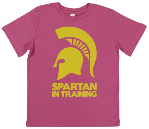 Phunky Buddha - Spartan In Training Toddler Girl'S T-Shirt 3-4 Yrs - Pink front-664581