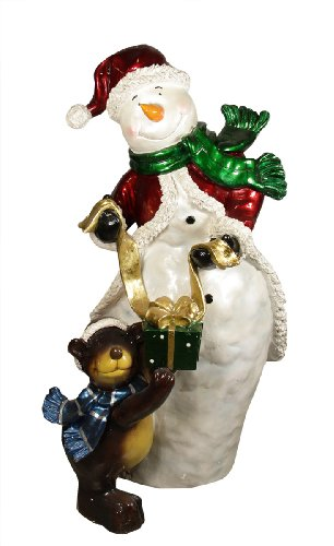48″ Commercial Size Snowman with Bear Christmas Display Decoration ...