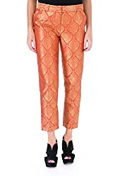 Elizabeth & James Womens Anselm Metallic Jacquard Trouser Pants