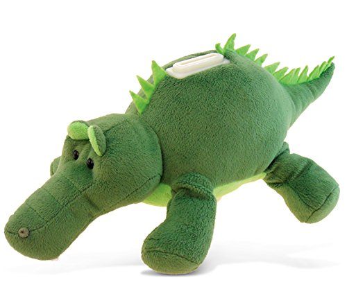 Puzzled Alligator Plush Huggie Bank