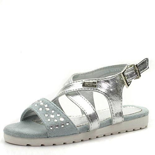 Miss SixtyMs953 - Scarpe con cinturino alla caviglia da ragazza' , Argento (argento), 30