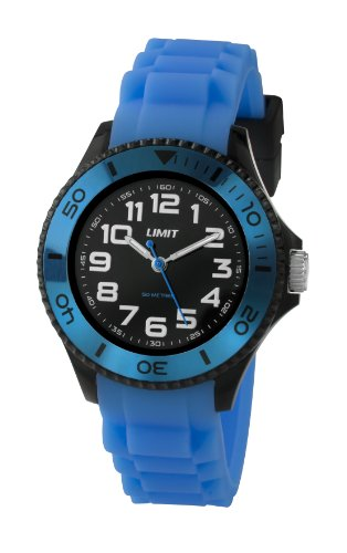 Limit Nitro Unisex Quartz Watch with Blue Dial Analogue Display and Blue Silicone Strap 5472.01