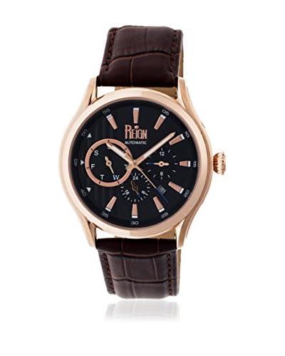 Reign Reloj con movimiento automático japonés Gustaf Reirn1506 Marrón Oscuro 43  mm