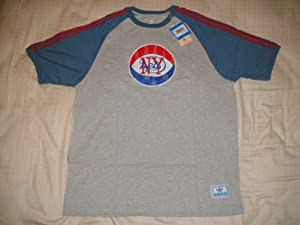 NWT NBA Retro ABA New York Nets Adidas Courtside Mens Funk Tee Size X-Large by adidas