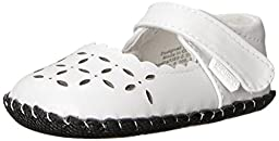pediped Katelyn Originals Mary Jane (Infant/Toddler),Pearl White,X-Small (0-6 months)