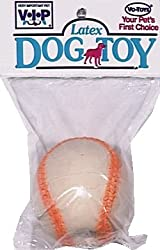 Vo-Toys Latex Baseball Dog Toy
