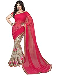 Zofey Women's Georgette Party Wear Fancy Saree With Blouse Piece (AISHAPEACH-SAREES_Peach)