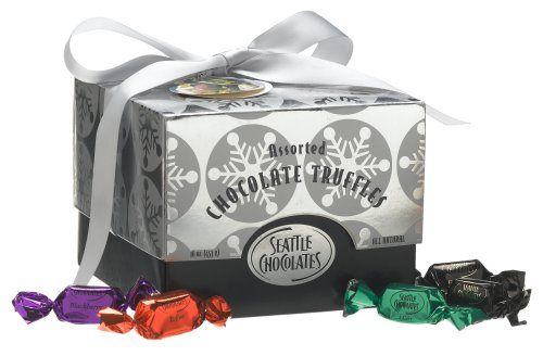 Buy Seattle Chocolates Whidbey-silver Assorted Truffles, 16-Ounce Boxes (Pack of 2) (Seattle Chocolates, Health & Personal Care, Products, Food & Snacks, Snacks Cookies & Candy, Candy)