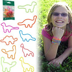 Groooovy Bandzzzz Shaped Rubber Bands -Dinosaurs - 24. Product Category: Toys & Games > Toys