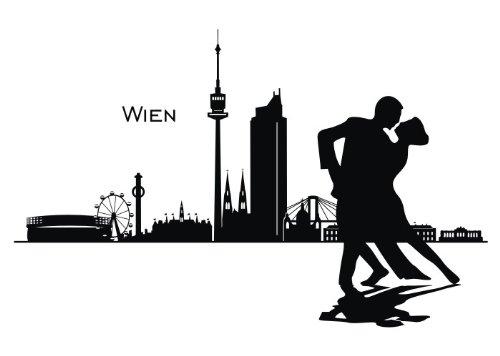 Wandtattooladen Wandtattoo - Skyline Wien Größe:80x51cm Farbe: Wunschfarbe