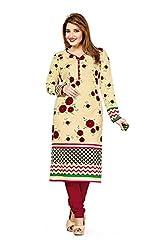 RK Fashion Womens Cotton Un-Stitched Salwar Suit Dupatta Material ( VARIETY-GANPATI-SUPRIYA-204-Off-White-Free Size)