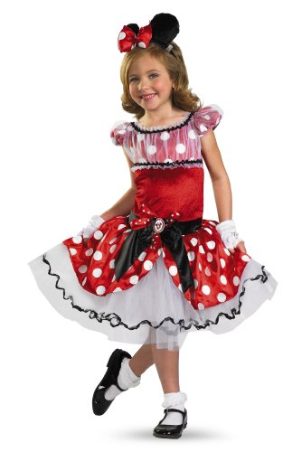 Disguise Girl's Disney Red Minnie Mouse Tutu Prestige Costume, 3T-4T