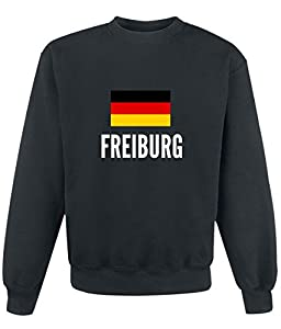 Sweatshirt Freiburg city Black