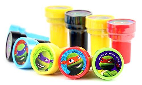 TMNT Teenage Mutant Ninja Turtles Self-Inking Stamps / Stampers Party Favors (10 Counts)