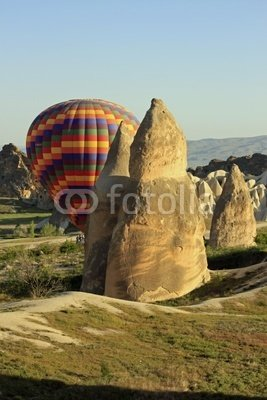 """Wallmonkeys Peel and Stick Wall Decals - 1005199 - Balloon Ride Cappadocia - 24""""H x 16""""W Removable Graphic"""