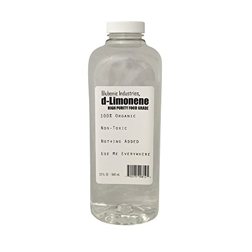 Blubonic Industries 100% d-Limonene HIGH PURITY FOOD GRADE Citrus Solvent Orange Oil Dlimonene Quart 32 oz