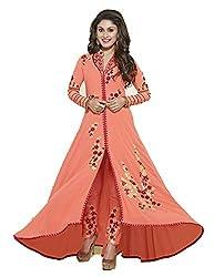 FashionKhoj semi-stitched embroidered georgette designer salwar suit set