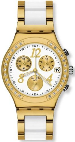 Swatch Irony Dreamwhite Yellow Chronograph Gold-Tone