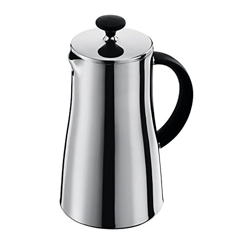 Bodum Arabica Double Wall 8 Cup Coffee Maker (1.0L / 34 Oz) Stainless Steel Shiny
