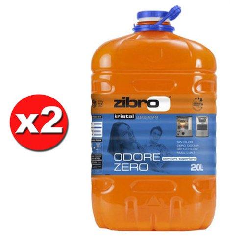 x 2 ZIBRO KRISTAL Combustibile liquido universale x quals. stufa 20lt inodore