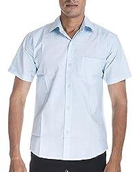 Venga Men's Button Front Shirt (RH004, Blue, M)