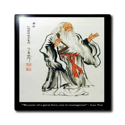 ct_19873_2 Rick London Famous Love Quote Gifts - Lao Tzu Because of great love one is courageous - Tiles - 6 Inch Ceramic Tile